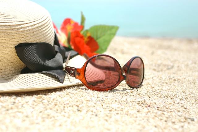 浜辺のサングラス