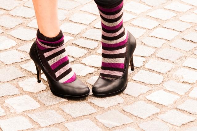 ヒールと靴下