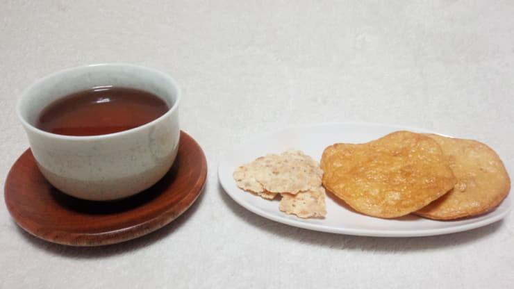 ほうじ茶 しょうゆせんべい えびせんべい