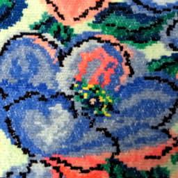 シニョール織の花柄タオル